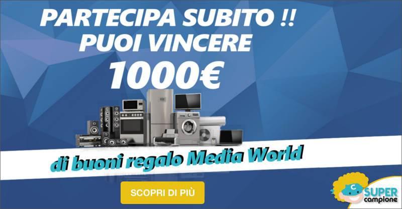 Vinci 1000€ di buoni MediaWorld