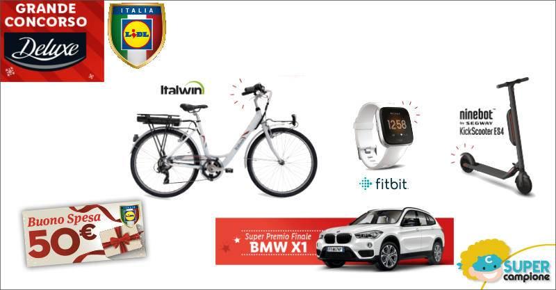 Lidl: vinci buoni, bici, smartwatch, monopattini e premio finale