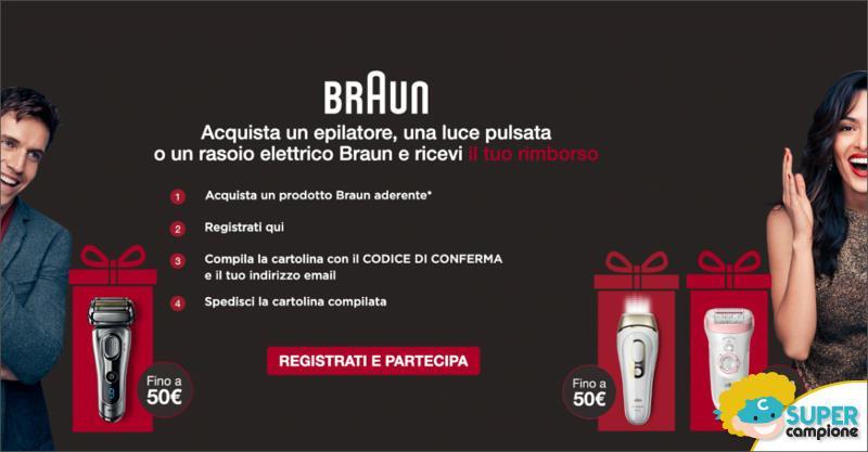 Cashback Braun: ricevi 50€ di rimborso