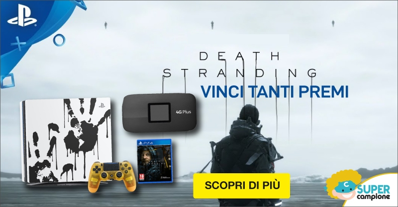 Vinci PS4 PRO Limited Edition Death Stranding e tanti altri premi!