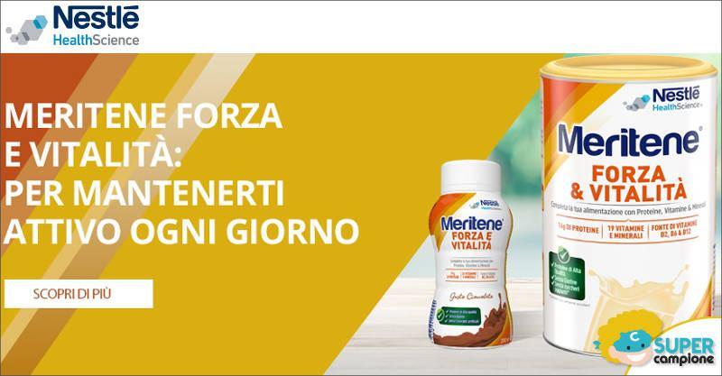 Campioni omaggio integratore Meritene Nestlé