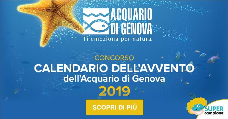 Calendario dell'Avvento Acquario di Genova: vinci biglietti gratis