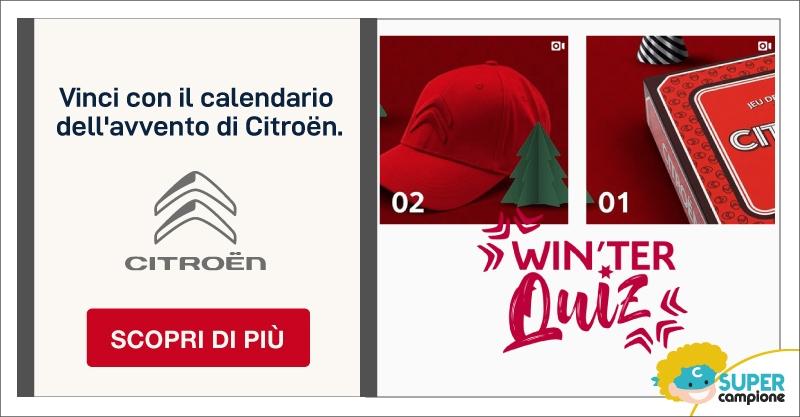Calendario dell'Avvento Citroen Italia: vinci gadget e sorprese