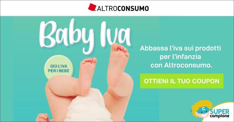Altroconsumo: unisciti a Baby Iva e ricevi il coupon sconto