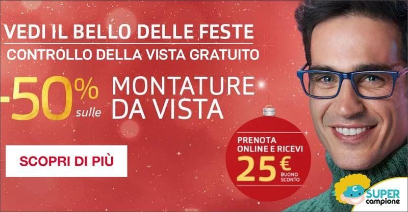 Buono sconto 25€ e controllo vista gratis con Grandvision