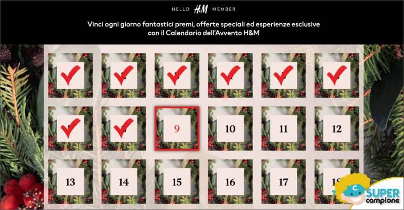 Calendario dell'Avvento H&M: ogni giorno un premio