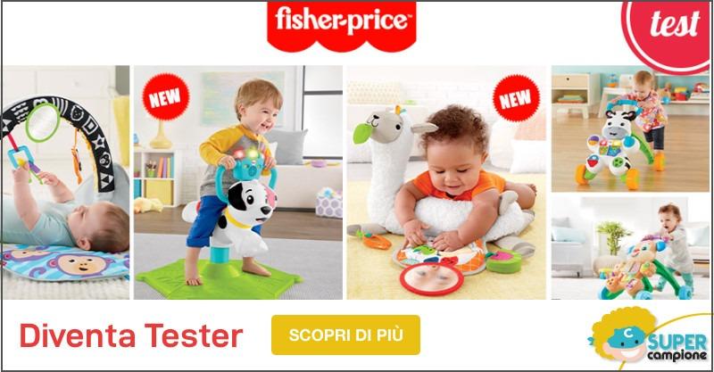 Diventa tester dei giocattoli Fisher Price