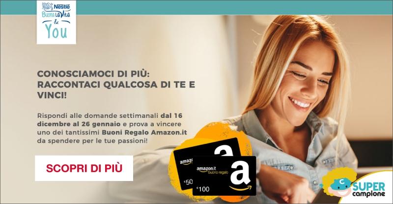 Vinci gratis 100€ buono Amazon con Nestlè