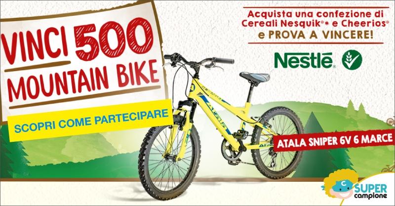 Vinci 500 Mountain Bike Atala con Nesquik e Cheerios