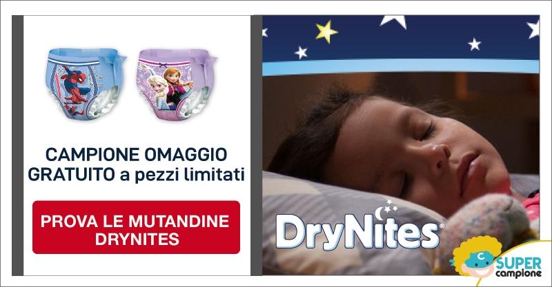 Campioni omaggio mutandine assorbenti Drynites