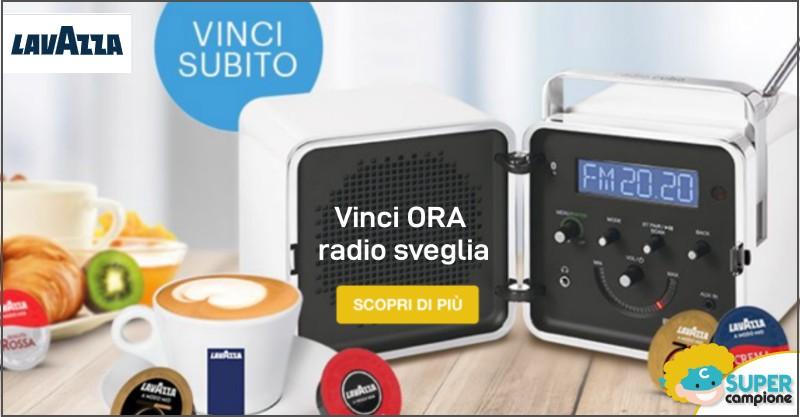 Vinci ora con Lavazza una Radio Cubo Brionvega