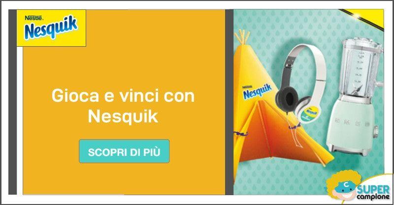 Nesquik: vinci tende, cuffie e frullatori SMEG