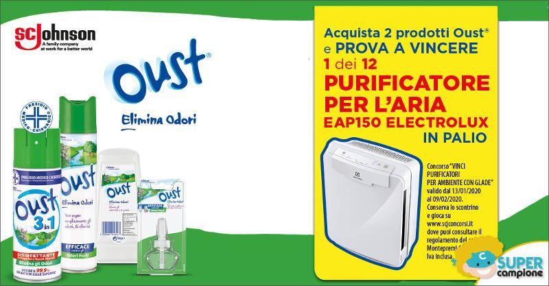 Oust: vinci purificatori d'aria Electrolux da 299€
