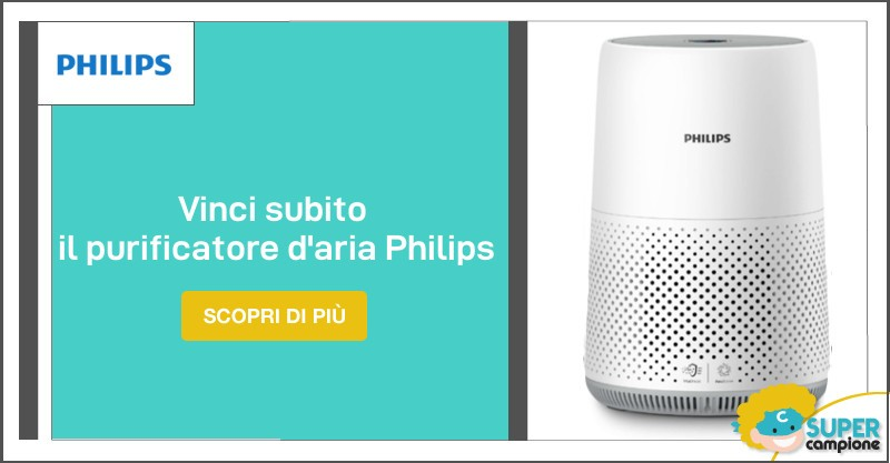 Vinci un purificatore d'aria Philips