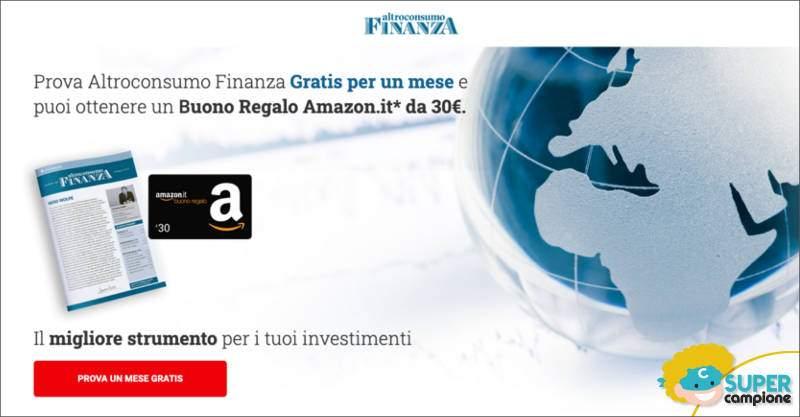 Con Altroconsumo Finanza puoi ricevere un buono Amazon da 30€