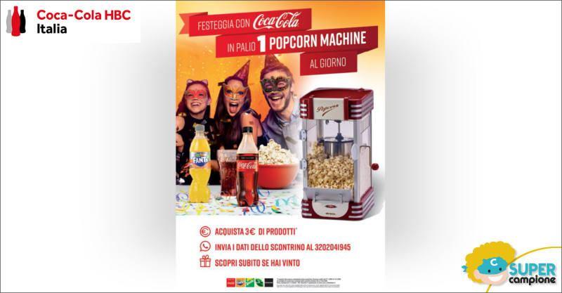 Coca-Cola: vinci una macchina per popcorn Ariete al giorno
