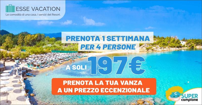Esse Vacation: 1 settimana per 4 persone a 197€