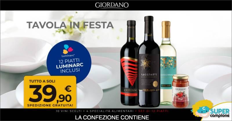 Giordano Vini: 10 vini, 4 specialità alimentari e gratis set di 12 piatti
