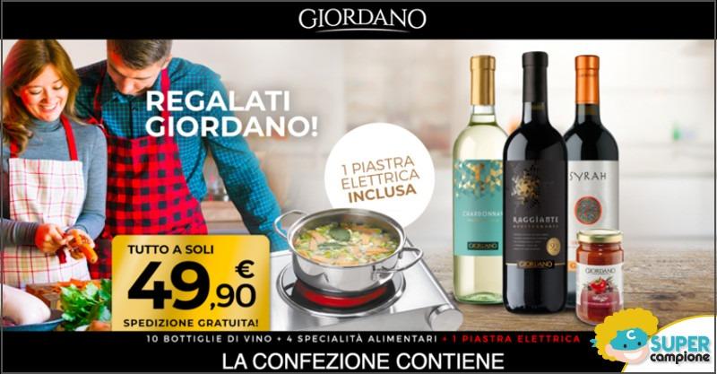 Giordano Vini: 10 vini, 4 specialità alimentari e gratis 1 piastra elettrica