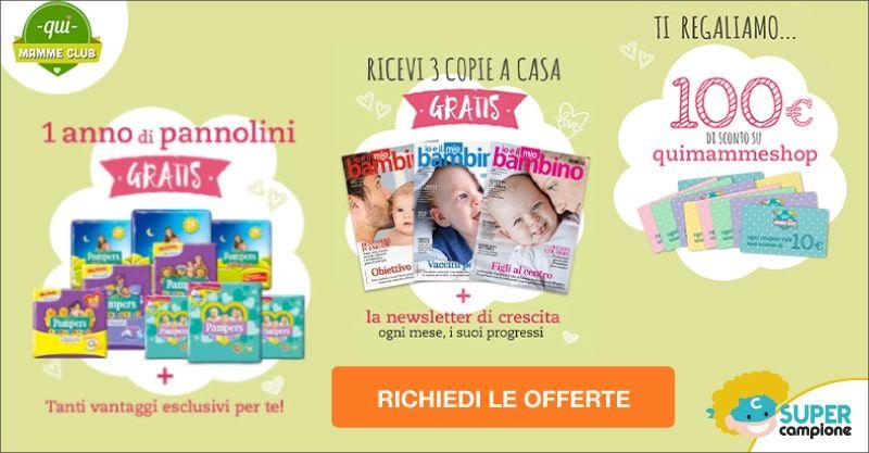 QuiMamme e Pampers CLUB: gratis rivista, coupon e tanti vantaggi