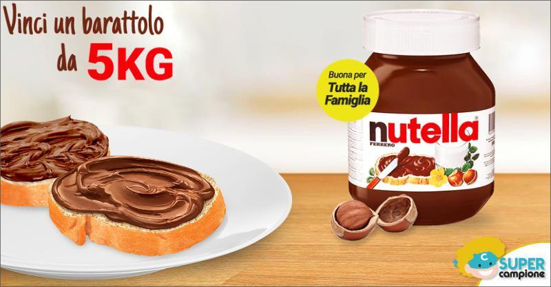 Vinci gratis un barattolo di Nutella da 5kg