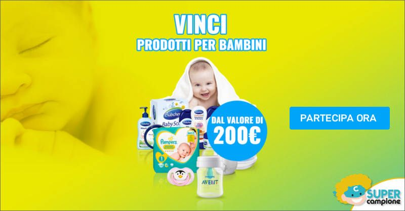 Vinci gratis 200€ di prodotti per il tuo bambino
