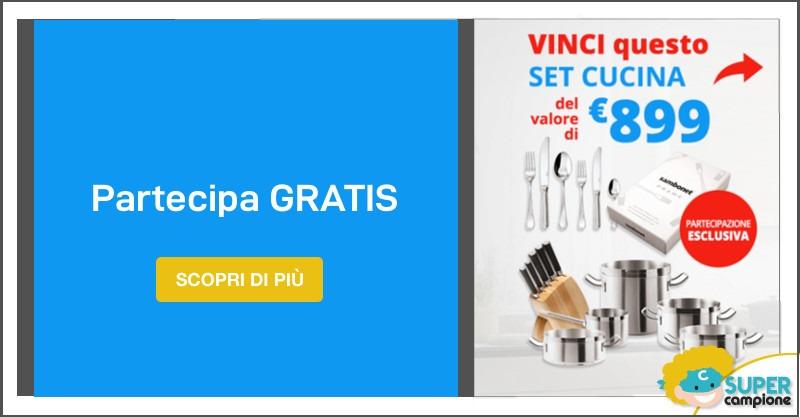 Vinci gratis un set da cucina da 899€