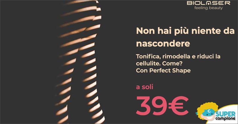 Biolaser: coupon trattamento anticellulite 39€