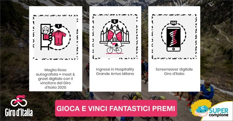 Vinci la maglia rosa autografata Giro d'Italia e tanti altri premi!