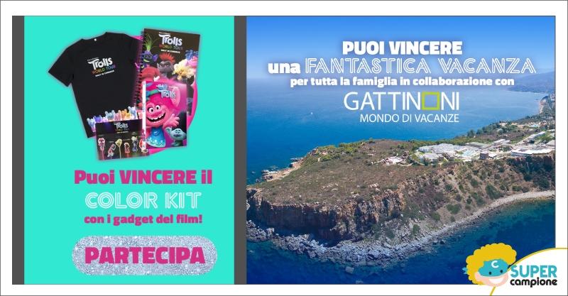 Vinci premi Trolls e 1 vacanza con Gattinoni