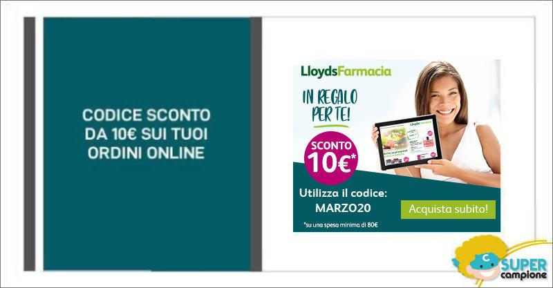 Lloyds Farmacia: codice sconto da 10€