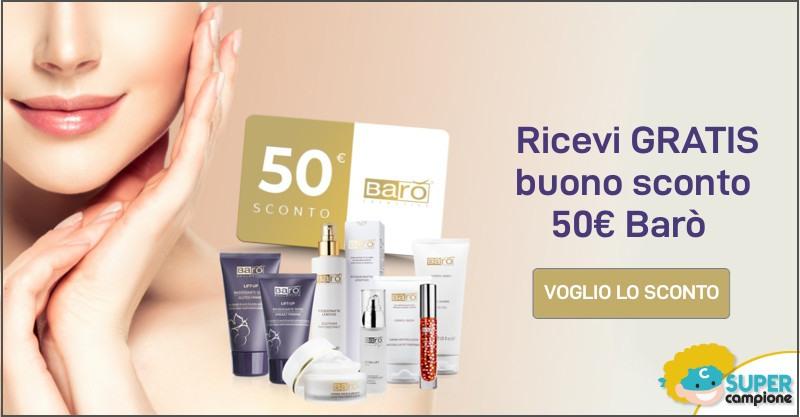 Ricevi 50€ di buoni sconto Barò Cosmetics