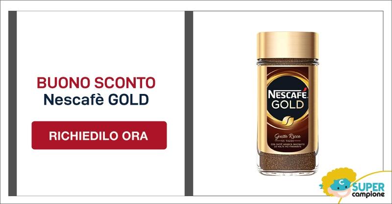 Buono sconto gratis Nescafè GOLD