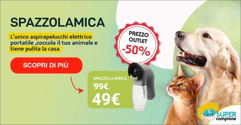 Offerta Spazzolamica: aspirapelucchi elettrico per animali e casa