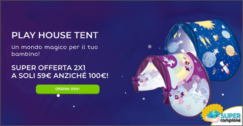 Offerta 2x1: Play House Tent