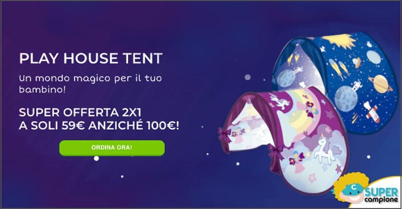 Offerta 2x1: Play House Tent