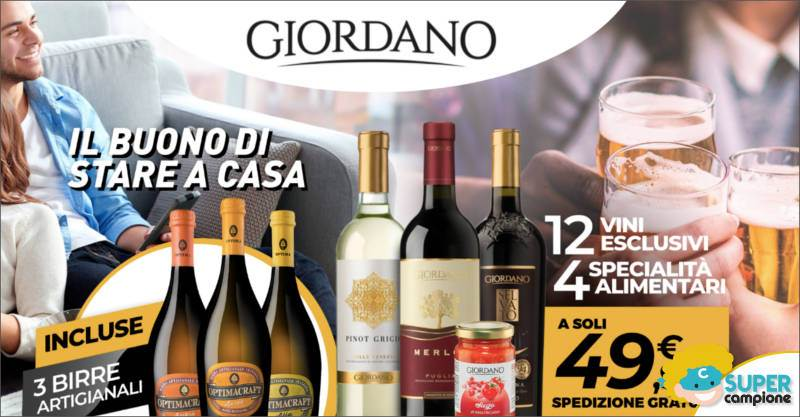 Giordano Vini: offerta vini, specialità alimentari e incluse birre artigianali
