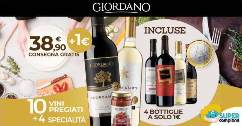 Giordano Vini: 4 bottiglie a 1€