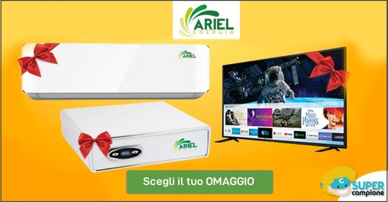 Ariel: offerta climatizzatore -400€ + 2 omaggi a scelta