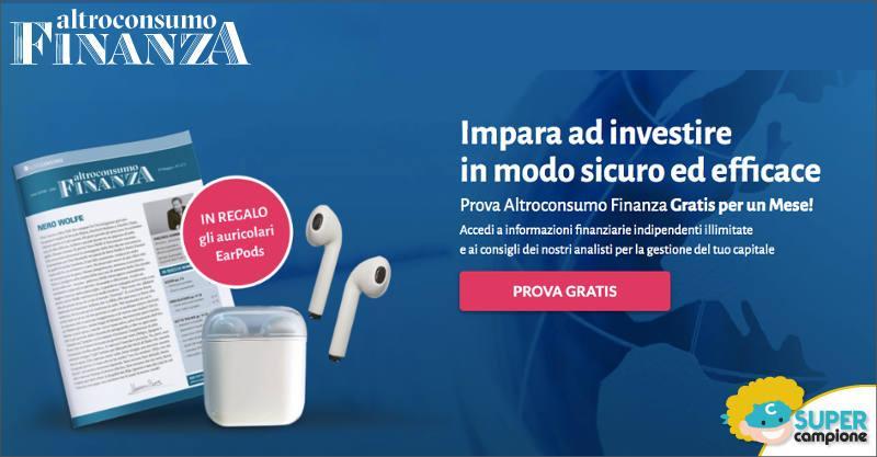 Altroconsumo Finanza: ricevi in regalo le EarPods