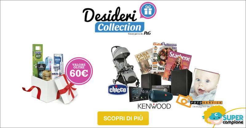 Desideri Collection: vinci forniture P&G e accedi alle promo