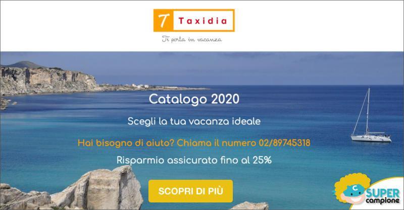 Taxidia viaggi: -25% su tutto il catalogo 2020