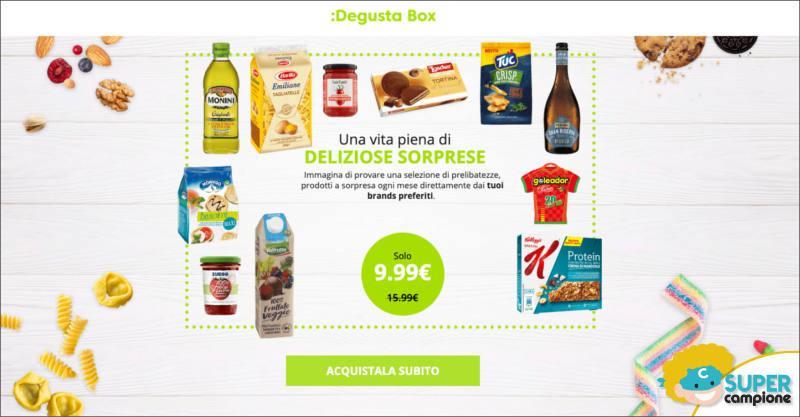 Degustabox: kit 15 prodotti alimentari a 9,99€