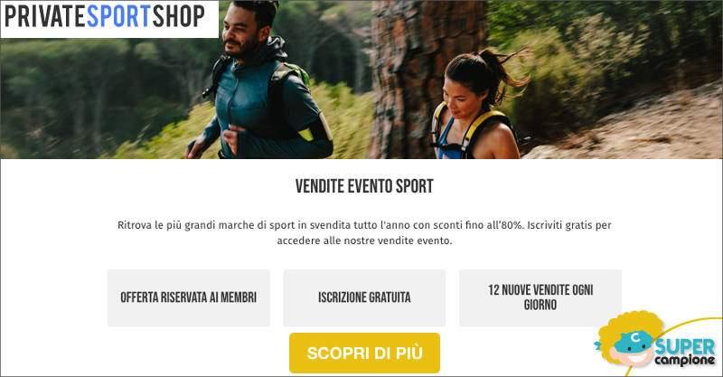 Private Sport Shop: sconti fino a 80% sulle migliori marche