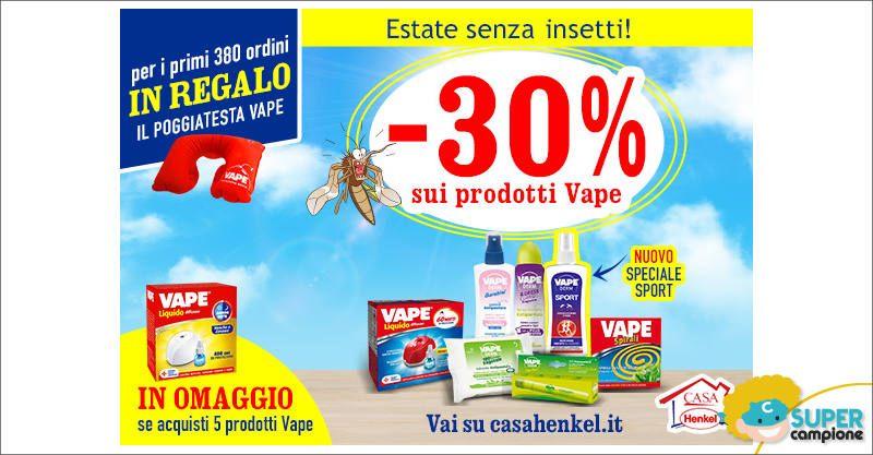 Casa Henkel: -30% sui prodotti Vape + omaggio