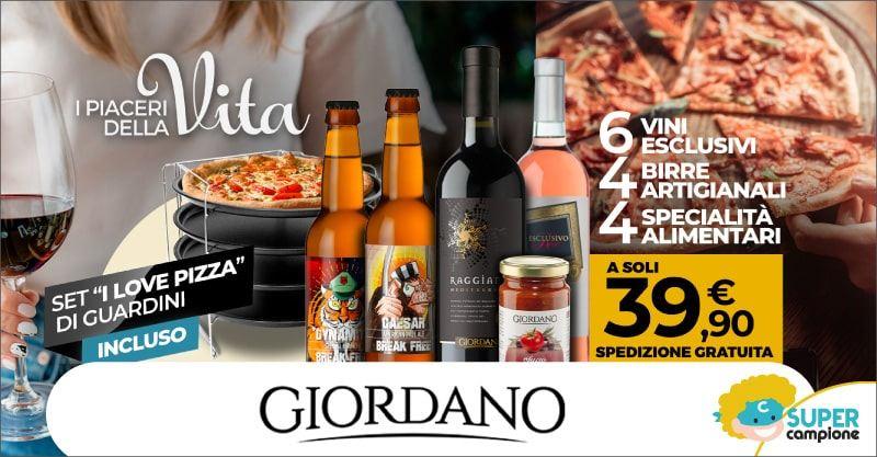 Giordano Vini: ricevi gratis il kit per la pizza