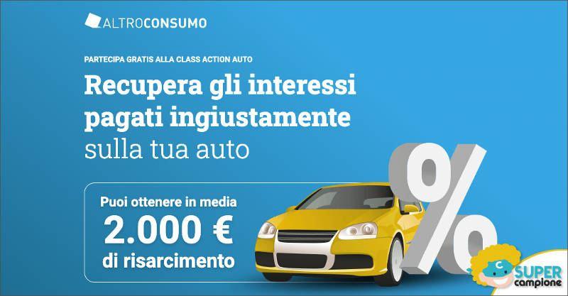 Altroconsumo: recupera gli interessi pagati sulla tua auto