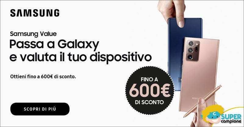 Samsung Note20: ottieni fino a 600€ per il tuo dispositivo usato