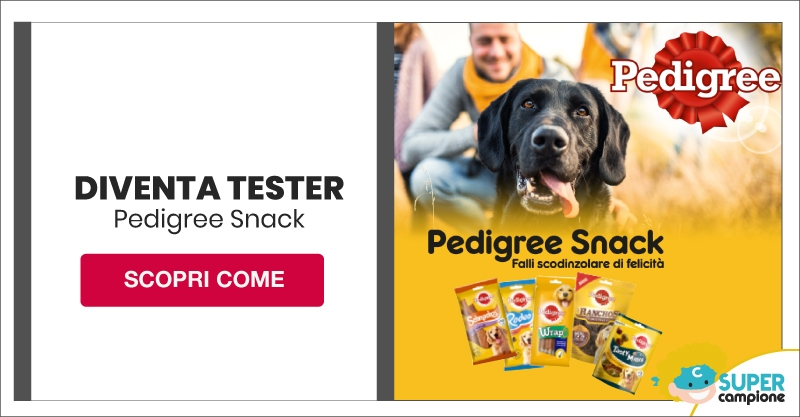 Diventa tester Pedigree Snack con The Insiders