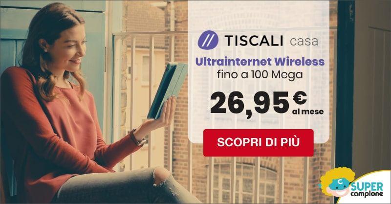 Tiscali: ultrainternet e modem gratis a 26,95€